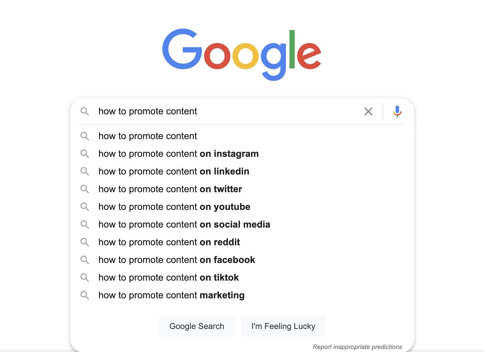 write content that ranks by doing keyword search in google
